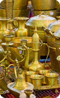 Brass artifacts match the modern symbol for 21st Anniversary